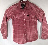 L.L. Bean Womens Long Sleeve Button Down Fiery Red Cotton Shirt Small NWT