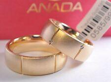 Marken Trauringe Gold 750 - mit Diamanten: 0,06ct. - Breite: 7,5mm - Eismatt