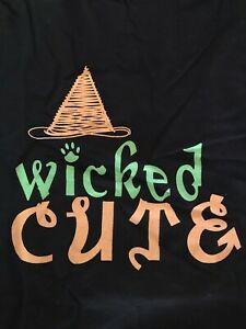 """Zack & Zoey """"Wicked Cute"""" Print Dog Tee Stay Dry Belly Verity of Sizes New"""