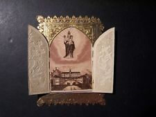 158/10) Oropa-Antique Santino with Lace-Dentelle-Santino-Holy Card