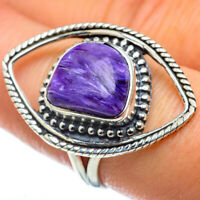 Charoite 925 Sterling Silver Ring Size 8.25 Ana Co Jewelry R49655F