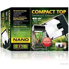 Exo Terra Nano Compact Top Terrarium Reptile Habitat Canopy Light Fixture