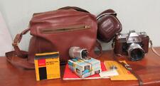 Vintage Kodak Retina Reflex IV 35mm Camera W/ 50MM Lens & Case Shutter Works