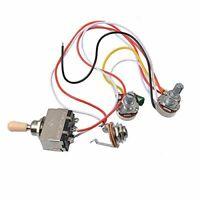 Electric Guitar Wiring Harness Kit 3 Way Toggle Switch 1 Volume 1 Tone 500K Pot