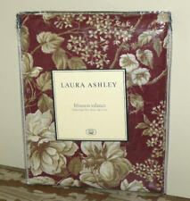 NEW Laura Ashley BROMPTON Red Burgundy FLORAL Cream Roses BLOUSON VALANCE(s)