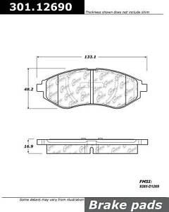 Disc Brake Pad Set-Premium Ceramic Pads with Shims Front fits 07-09 Pontiac G3