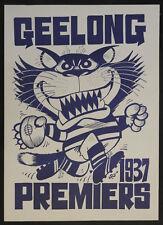 1937 Geelong Cats Premiers Weg Poster Premiership Grand Final