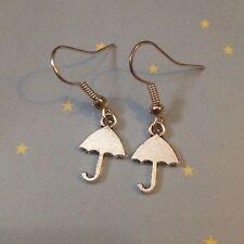Mini Umbrella Earrings Rain Snow Lawsuit Kitsch Xmas Stocking Gift Singin Kawaii