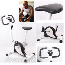 Gym EXERCISE Compact BIKE TRAINER FITNESS & CARDIO WORKOUT Machine in Black HT