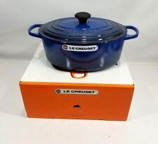 Le Creuset France Oval Dutch Oven Cast Iron Lapis Blue 6.75 Quart NIB