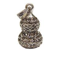 Tibetische Metall Anhänger Silber 24mm für Halskette Charm Armbänd Schmuck M583