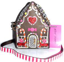 BETSEY JOHNSON Home Sweet Home Gingerbread House Cross Body Purse Bag NWT