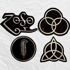 Set Led Zeppelin Symbols Embroidered Patches Jimmy Page Robert Plant Bonham Zoso