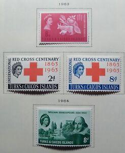 Turks & Caicos Scott #139-180, Mint Original Gum (HR)