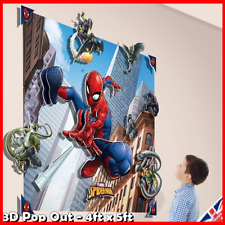Walltastic 3d Spider-man Wall Mural Kids Boys Room Decoration Stickers Gift Hero