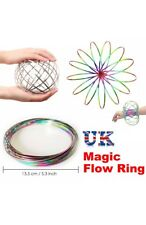 Rainbow Funny Flow Ring Toy Magic Kinetic Spring Infinity Arm Juggle Dance UK