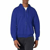 Hanes Men's Full Zip Ultimate Heavyweight Fleece Hoodie, Deep Royal, Medium