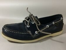 Dex Loafer Boat Deck Shoe Womens 6 M Navy Moc Toe Oxford Casual Leather Goodyear