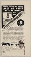 1948 Print Ad Buck Lifetime Knife Hand Made San Diego,California