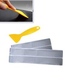 4×Auto türschweller verschleißplatte willkommen pedal tür panel aufkleber Silber