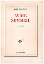 JURGENSON Luba - AVOIR SOMMEIL - 1981