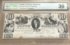 Hamburg South Carolina , $10  1850  hamburg bank , PMG 30 , scarce