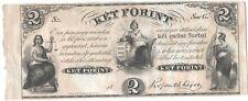 Hungary 2 Forint 1852 P-S142r AU