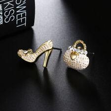Cute Women Kids Girls Fashion Jewelry Bags Heels Shoe Ear Stud Earrings Gift