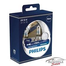 Philips RacingVision H4 bis zu 150% mehr Licht Halogenlampe 12342RV+S2 Duo 2 Stk