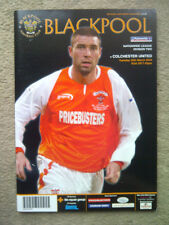 Blackpool v Colchester United - Nationwide League Division 2 2003/04 PROGRAMME