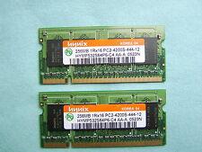 Pair of Hynix 256MB PC2-4200S HYMP532S64P6-C4 AA Laptop RAM