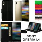 Leather Wallet Book Flip Mobile Phone Case Cover For Sony Xperia L4 (XQ-AD51)
