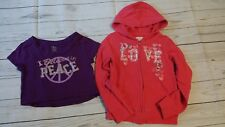 TCP The Childrens Place Purple Peace Shirt Hoodie Girl S Small 5-6 Clothes LOT