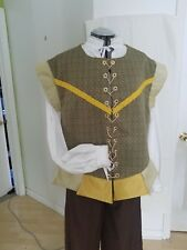Renaissance Doublet (XLG) - Olive Green with bright gold and light green contras