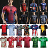 Men Marvel Superhero 3D Muscle T-shirt Compression Gym Sport Cycling Tops Tee