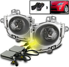2010 2011 TOYOTA PRIUS BUMPER CLEAR FOG LIGHTS LAMP CHROME+HARNESS+HID 3000K SET