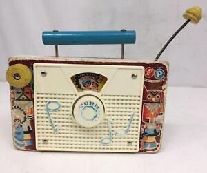 Vintage Fisher Price TV-Radio Music Box Toy Ten little Indians #159 Switzerland