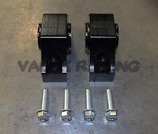 Blackworks BWR Solid Billet Torque Mounts Black 92-00 Civic 94-01 Integra