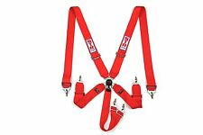 """6 Point 3"""" STR Race Harness Restraint F2 Seat Belt - Red IVA & FIA Approved 2021"""