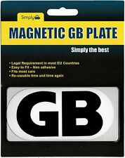 GB EU European Travel Car Van Magnetic Gb Badges Plate Sticker France Spain