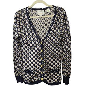 Anthropologie Sparrow Womens Aye Aye Sailboat Cardigan Sweater Size Medium