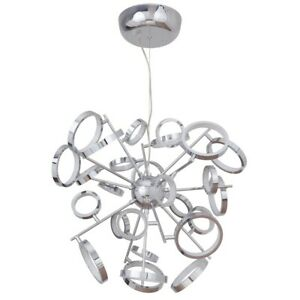 Craftmade Mira 26 Ring LED Chandelier, Chrome - 47126-CH-LED