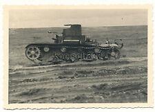 Foto russo carri armati t-26 con MG gemello Torre presso PSKOW Russia SERBATOIO relitto!