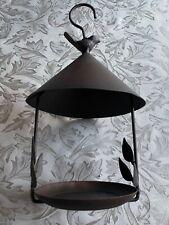 New listing Garden Outdoor Bird Feeder w/Leaves Metal Hanging Gazebo