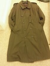 MARKS & SPENCER MEN'S CHOCOLATE WATERPROOF TRENCH COAT SIZE XX LARGE