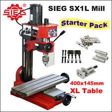 SIEG SX1L Milling Machine 400mm Long Table /150W DC Motor Starter Pack