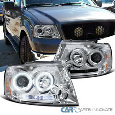 For Ford 04-08 F150 Lincoln 06-08 Mark LT LED Halo Clear Projector Headlights