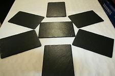 6 Stck.Schieferplatten 20x15 cm in Platzset Tischset Servier Platten Unbehandelt