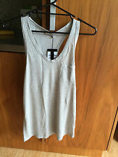 ALEXANDER WANG CLASSIC TANK WITH POCKET GREY SIZE SMALL NEW WITH TAGS