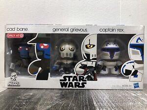 Star Wars Mini Muggs - Cad Bane Grievous Rex Target Excl 3 Pk Hasbro 2009 NEW